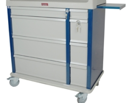 Harloff AL600PC OptimAL Aluminum Punch Card Medication Cart
