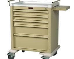 Harloff AL808K5-ANS Universal Line Aluminum Five Drawer Anesthesia Cart