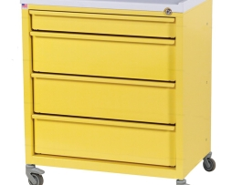 Harloff ETC-4 Four Drawer Economy Treatment Cart