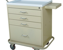 Harloff MD30-4K Economy Four Drawer Multi-Dose Medication Cart