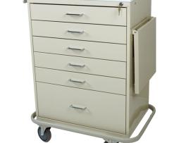 Harloff MD50-6K Classic Line Six Drawer Multi-Dose Medication Cart