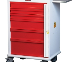 Harloff MR6B Aluminum MR-Conditional Six Drawer Emergency Cart