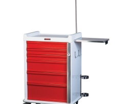 Harloff MR6B-EMG Aluminum MR-Conditional Six Drawer Emergency Cart