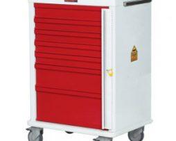Harloff MR7B MR-Conditional Seven Drawer Emergency Cart