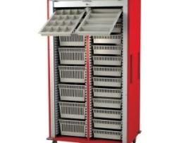 Harloff MS8140-A Double Column Medical Storage Cart