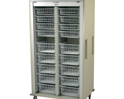 Harloff MS8140-B Double Column Medical Storage Cart