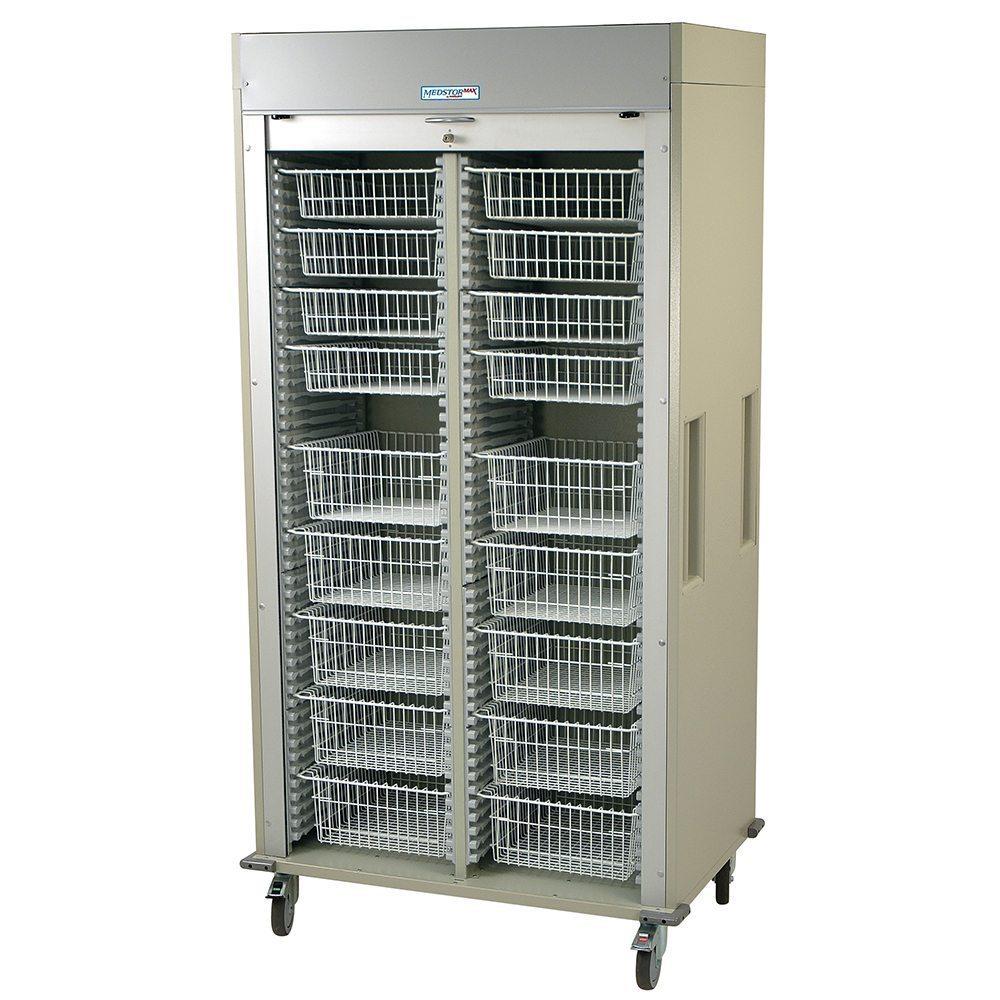 Harloff Ms8140 B Double Column Medical Storage Cart On Sale