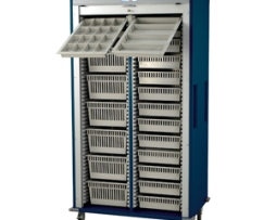 Harloff MS8140-D Double Column Medical Storage Cart