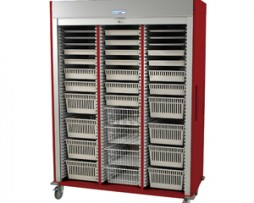 Harloff MS8160-CARDIO Triple Column Medical Storage Cart