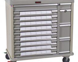 Harloff SL54BIN3 Standard Line Med-Bin Medication Cart