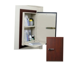 Harloff WL2784ETRMPKG-DC Wooden Laminate Wall Medication Cabinet