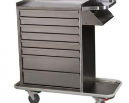 Harloff 6020 Cast Cart Stainless Steel Eight Drawer Standard Package