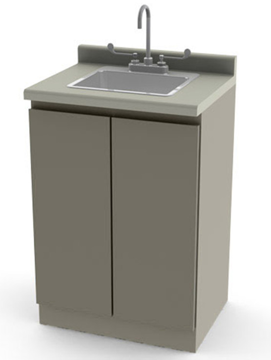 Umf 6024 Modular 24 Quot Base Cabinet Sink Faucet