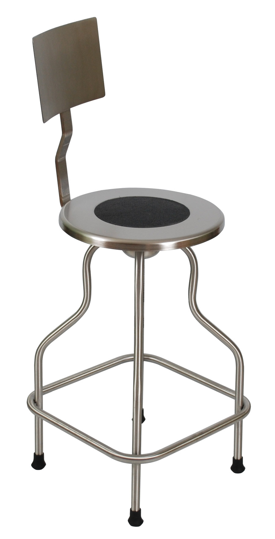 Umf Ss6700 Stainless Steel Revolving Stool With Back
