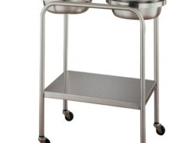 UMF Medical SS8360 Stainless Steel Twin Basin Stand