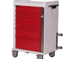 Harloff MR7B MR-Conditional Seven Drawer Emergency Cart Standard Package