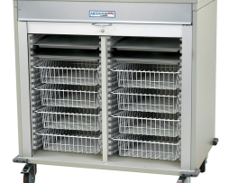 Harloff MS4040-B Medical Double Column Storage Cart