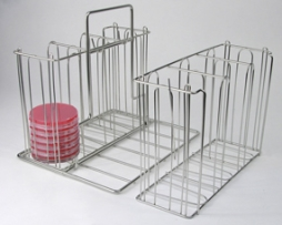 Unico 44510 Laboratory Culture Plate Petri Dish Rack