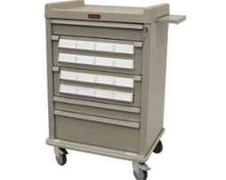 Harloff AL16CS-5 Aluminum Cassette Medication Cart