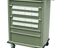 Harloff AL16CS-5 Medication Cart Aluminum 16 Bin Cassette