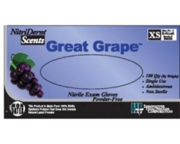 Innovative 196300 Nitriderm Scents Grape Gloves