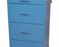 Harloff 3154E Infection Control Cart Mini Line Four Drawer