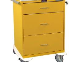 Harloff 7510E Infection Control Cart Classic Line Three Drawer