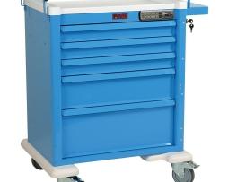 Harloff AL808E5 Aluminum Five Drawer Treatment Procedure Cart