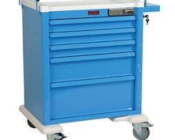 Harloff AL808E5 Aluminum 5 Drawer Anesthesia Cart