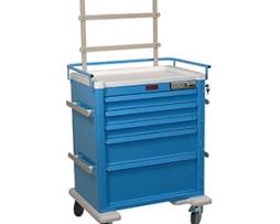 Harloff AL808E5-ANS Aluminum Five Drawer Anesthesia Cart