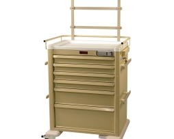 Harloff AL809E6-ANS2 Universal Line Six Drawer Aluminum Anesthesia Cart