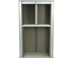 Harloff MS8140-SPLITA Double Column Medical Storage Cart