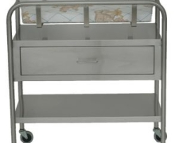 UMF SS8525 Stainless Steel Bassinet 1 Shelf