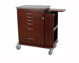 Harloff WV6400SC-CM Wood Vinyl Emergency Cart