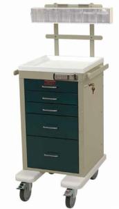 Harloff AL3245E-ANS Aluminum Mini Line Anesthesia Cart