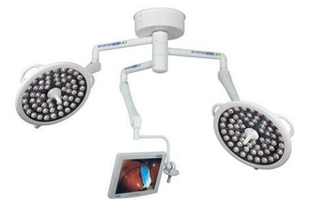 Bovie XLDS-S23MA Surgical System Two LED Light Ceiling Mounts