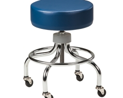 Clinton 2102 Medical Adjustable Chrome Base Stool