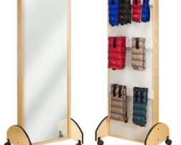 Clinton 6210-9 Mobile Adult Mirror Cuff Weight Rack