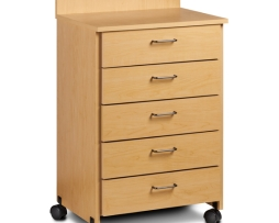 Clinton 8950 Mobile 5 Drawer Treatment Cabinet