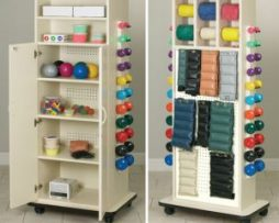 Clinton 6151 Physical Therapy Cabinet Peg Racks