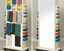 Clinton 6154 Physical Therapy Elements MirrorRac Peg Rack
