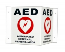 Cardiac Science 168-6002-001 AED Wall Sign