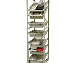 Harloff MOS7618-1COL Medical Storage Rack Mobile Wire Open Frame
