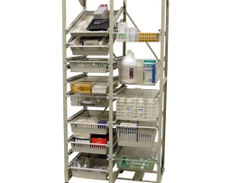 Harloff MOS7618-2COL Mobile Storage Wire Rack