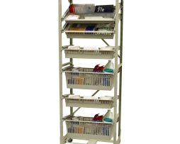Harloff MOS7626-1COL Medical Storage Rack Mobile Wire Open Frame