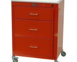 Harloff 4143B Emergency Cart Mini24 Line Three Drawer