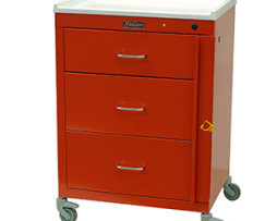 Harloff 4143B Mini24 Line 3 Drawer Emergency Cart