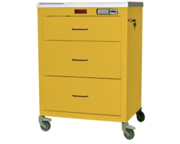 Harloff 4143E Mini24 Line 3 Drawer Isolation Infection Control Cart