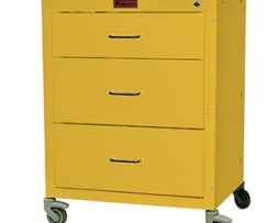 Harloff 4143K Mini24 Line 4 Drawer Isolation Infection Control Cart