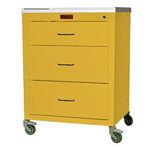 Harloff 4143K Treatment Cart Mini24 Line Three Drawer